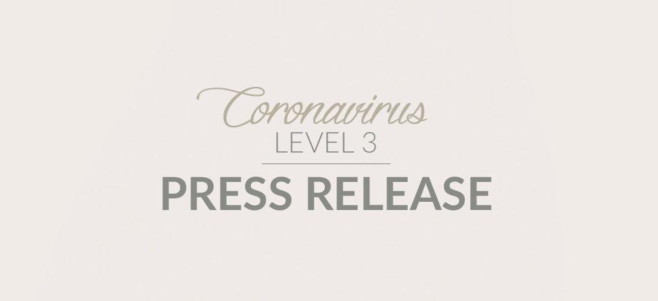 Covid-19 press release Level 3